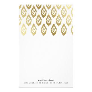 GoldIkat | personalisiertes Briefpapier
