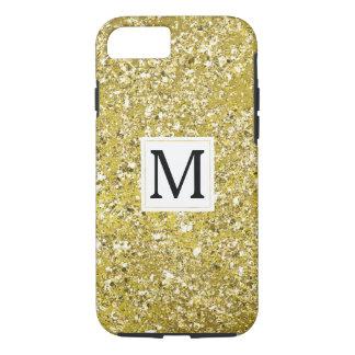 GoldImitat-funkelnd Glitzer-Monogramm iPhone 8/7 Hülle