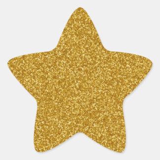 GoldImitat-Glitter-Aufkleber Stern-Aufkleber