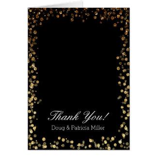 GoldImitat-Glitter Ombre Bokeh danken Ihnen Karte
