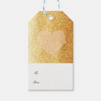 GoldImitat-Glitzer mit empfindlichem Herzen Geschenkanhänger