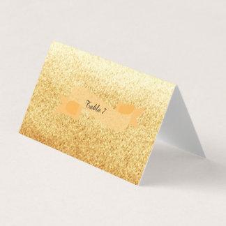 GoldImitat-Glitzer-Tischnummer Platzkarte