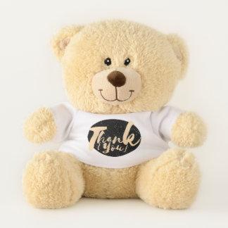 Goldkalligraphie danken Ihnen punktiert auf Teddybär