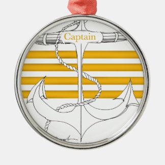 Goldkapitän, tony fernandes rundes silberfarbenes ornament