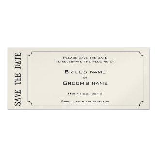 Goldkarten-Save the Date Einladungen