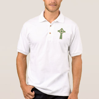 Goldkeltisches Kreuz-Polo-Shirt Poloshirt