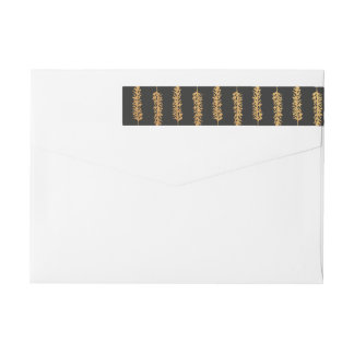 Goldkiefern-Ast-Verpackung um Adresse