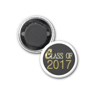 Goldklasse von 2017 mit Weiß oder irgendeinem Runder Magnet 2,5 Cm
