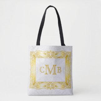 Goldklassisches Monogramm-verzierter Tasche