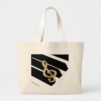 Goldklavier gclef Symbole Einkaufstasche