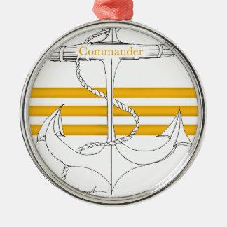Goldkommandant, tony fernandes silbernes ornament