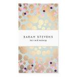 Goldkreise und Confetti-Muster-Schönheits-Salon Visitenkarten