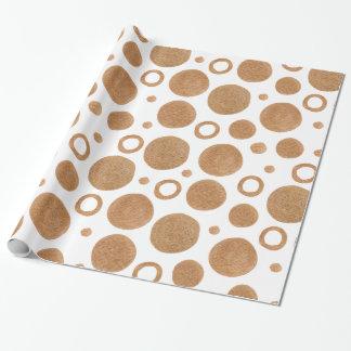 Goldkreise und -punkte geschenkpapier