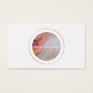 Goldkreisfeuer-Opal-Entwurfs-Visitenkarte Visitenkarte