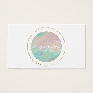 Goldkreisförmige tadellose grüne visitenkarte