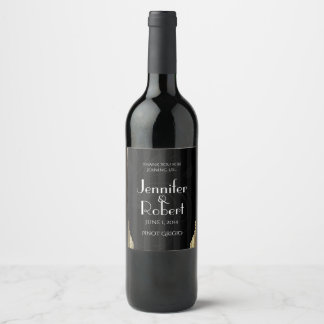 Goldkunst-Deko-Streifen-Hochzeits-Wein-Aufkleber Weinetikett