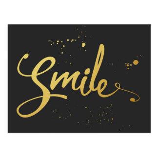 Goldlächeln-Zitat Postkarten