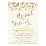 Goldladen funkelndes Confetti-Brautparty ein Personalisierte Ankündigungskarte