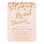Goldladen funkelndes Confetti-Brautparty ein Einladungen