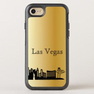 Goldlas vegasskyline-Silhouette-Kasten OtterBox Symmetry iPhone 8/7 Hülle