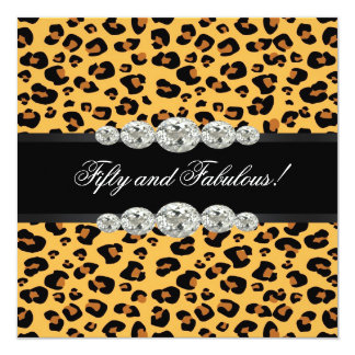 Goldleopard-Geburtstags-Party Karte