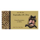 Goldleopard und schwarze Perlen Save the Date