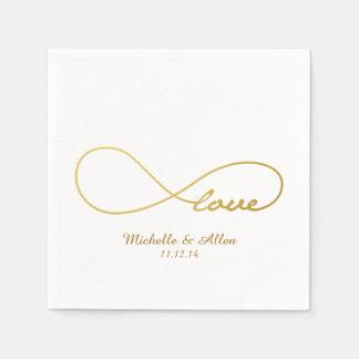 GoldLiebe-Unendlichkeits-Wedding Papierserviette