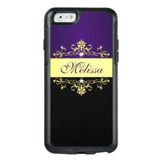 Goldlila schwarzer BlumenOtterBox iPhone 6/6s OtterBox iPhone 6/6s Hülle