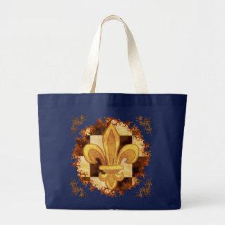 GoldLilien-Name-Taschentasche Jumbo Stoffbeutel