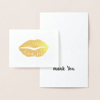 Goldlippenstift danken Ihnen Folienkarte
