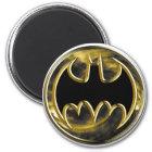 Goldlogo Batman-Symbol-| Runder Magnet 5,7 Cm