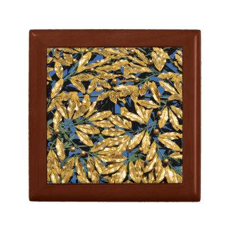 Goldlorbeer-Blätter Schmuckschachtel