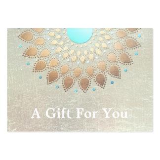 Goldlotos-Salon und Wellness-Center-Geschenk-Karte Visitenkartenvorlagen