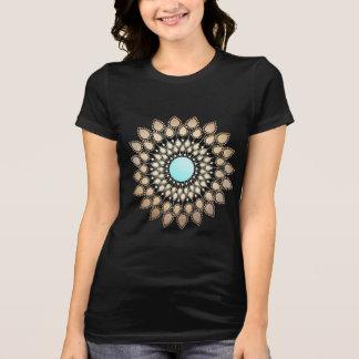 Goldlotos-Yoga-und T-Shirt