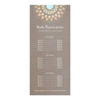 GoldLotus-Massage-Therapeut-Preisliste Bedruckte Werbekarte