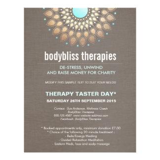 GoldLotus-Yoga-holistischer Gesundheits-Therapeut Flyer