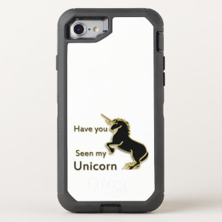 Goldmagisches Märchen-Einhorn OtterBox Defender iPhone 8/7 Hülle