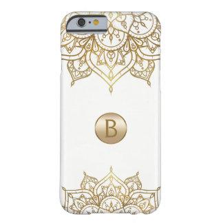 GoldMandala u. weißes schickes modernes Barely There iPhone 6 Hülle