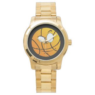 Goldmännlicher Mann Baller Emoji Uhr