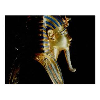 Goldmaske von Tutankhamun Postkarte