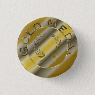 Goldmedaille Runder Button 3,2 Cm