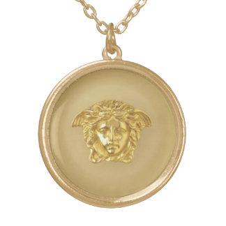 Goldmedusa-Medaillon Vergoldete Kette