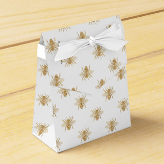 Goldmetallische Imitat-Folie Foto-Effekt Bienen Geschenkschachtel