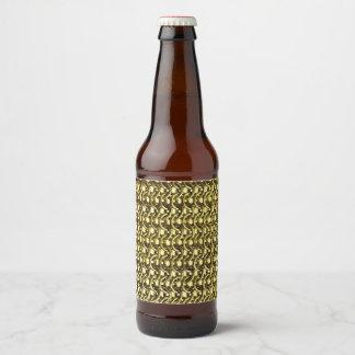 Goldmetallkettenhemd-metallische mittelalterliche bierflaschenetikett