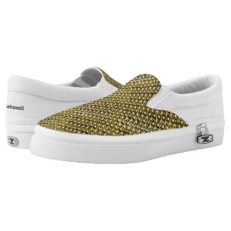 Goldmetallkettenhemd-metallische mittelalterliche Slip-On sneaker