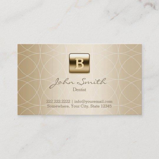 Goldmonogramm Geo Muster Zahnarzt Visitenkarte Zazzle De