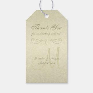 Goldmonogramm-Hochzeit Geschenkanhänger