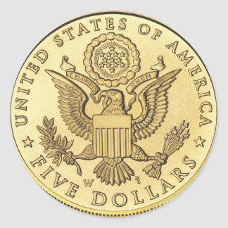 Goldmünze Runder Aufkleber