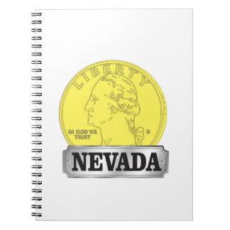 Goldmünze von Nevada Spiral Notizblock