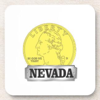 Goldmünze von Nevada Untersetzer